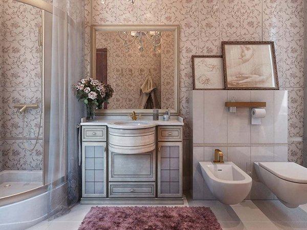 Интерьер ванной комнаты стиль прованс