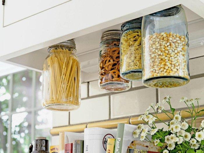 Идея хранения крупы на кухне
