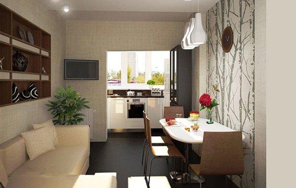 Дизайн кухни на балконе