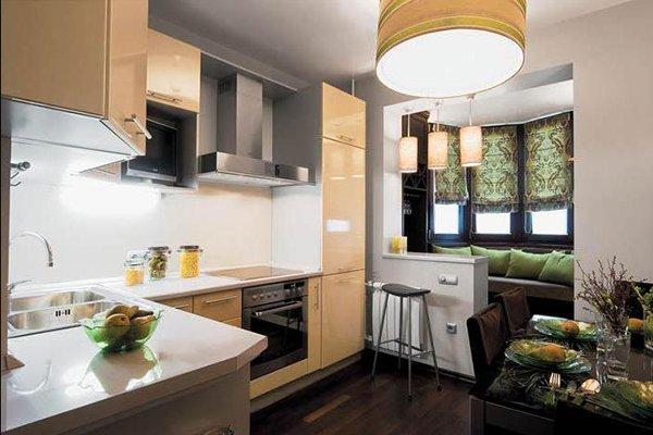 Фото мягкого уголка на балконе на кухне