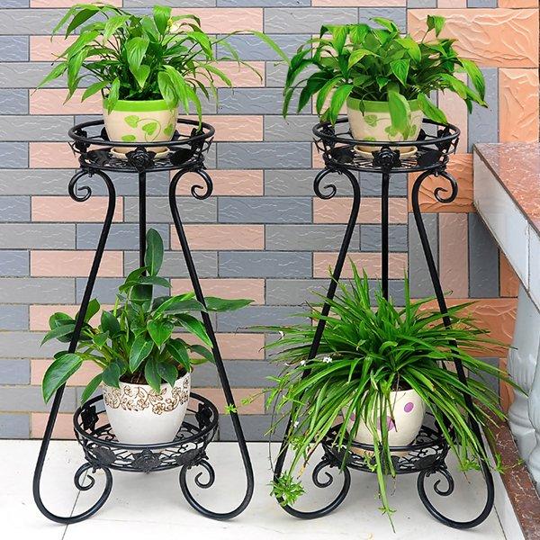 Кованые стойки для растений