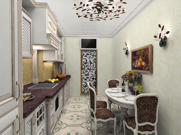 Декор стен кухни картиной