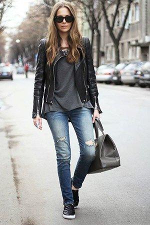 Подходящая обувь для куртки косухи