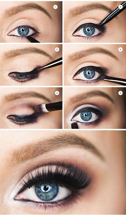 Макияж глаз для голубых глаз цветотипа зима