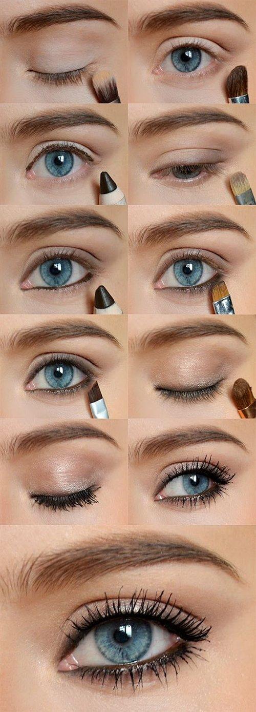 Дневной макияж в 5 шагов для голубоглазых девушек