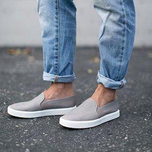 Слипоны с джинсами
