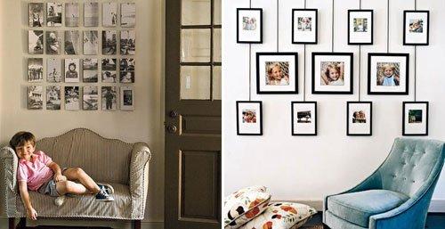 Фотографии на стене