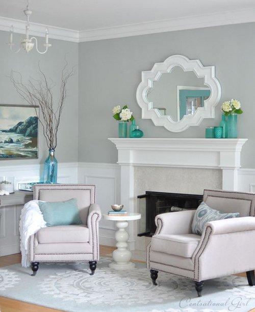 Серый интерьер комнаты