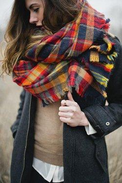 Клетчатый шарф