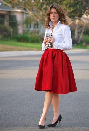 Сочетание юбки и рубашки