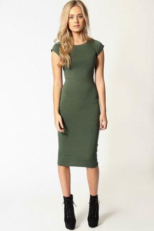 Деловое зеленое платье