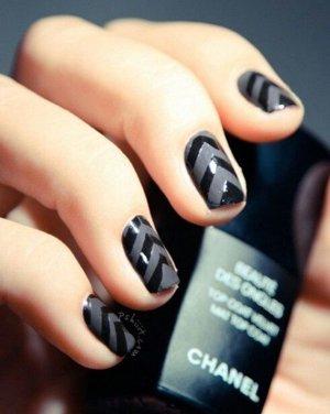 Дизайн ногтей черный лак