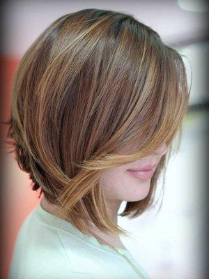 Окрашивание волос методом шатуш