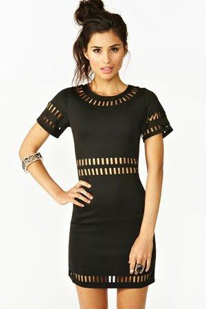 Черное летнее платье