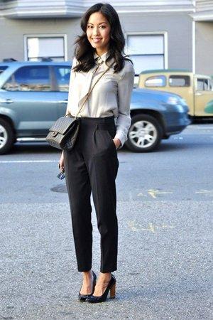 Классические брюки с завышенной талией