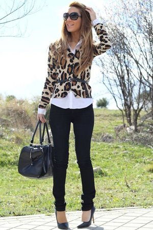 Блейзер под леопард