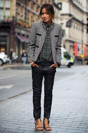 Осенний пиджак с принтом