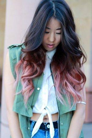 Окрашивание волос цветное с переходом