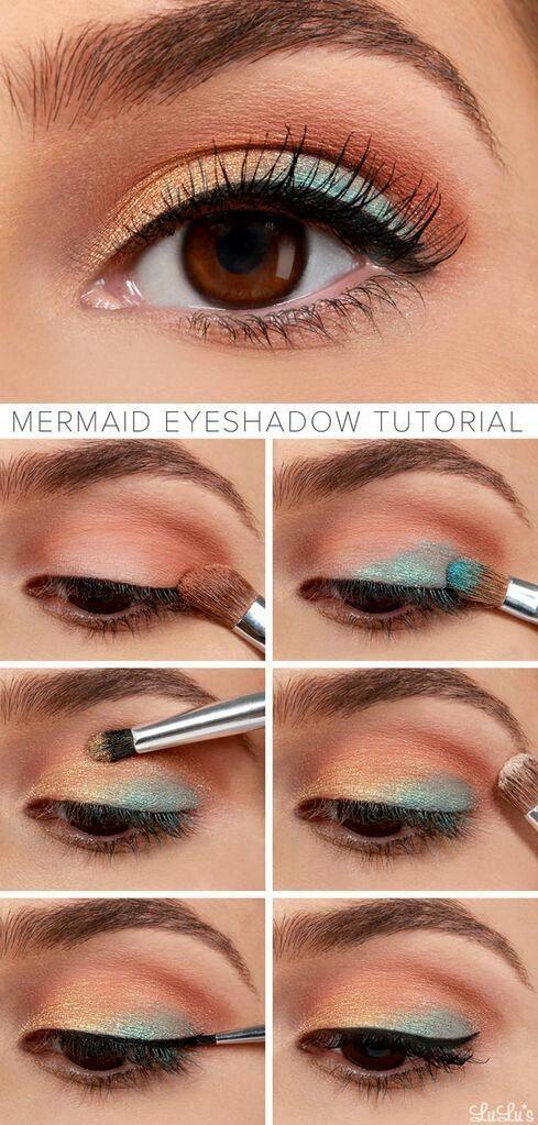 Праздничный макияж темных глаз