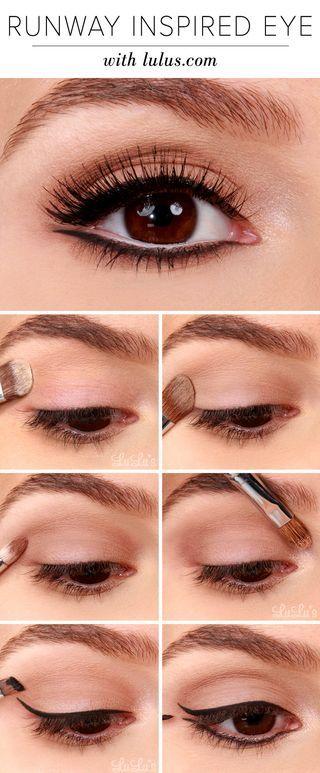 Пошаговое фото макияжа глаз