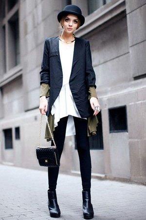 Женский котелок с пиджаком