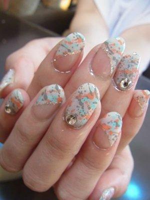 Дизайн ногтей мрамор