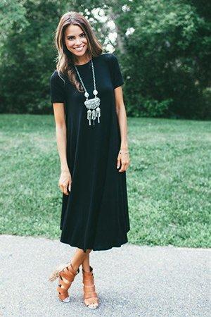 Украшения с платьем миди