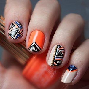 Геометричный дизайн ногтей