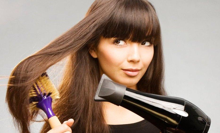 Полировка волос щеткой