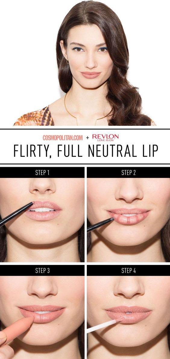 Увеличение губ макияжем пошаговое фото