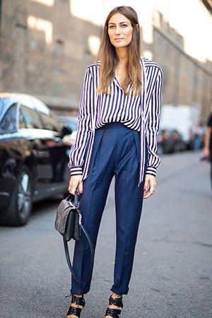 Рубашка в полоску с брюками