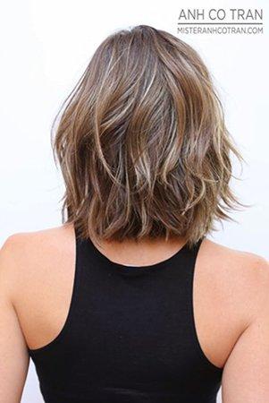 Калифорнийское мелирование на короткие волосы