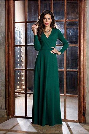 Зеленое платье макси