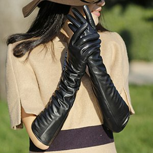 Кожаные перчатки для дам