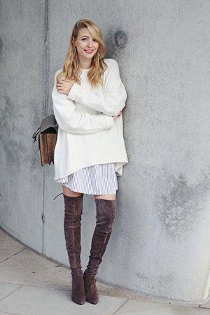 Комплект одежды с ботфортами