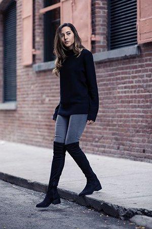 Ботфорты с узкими джинсами