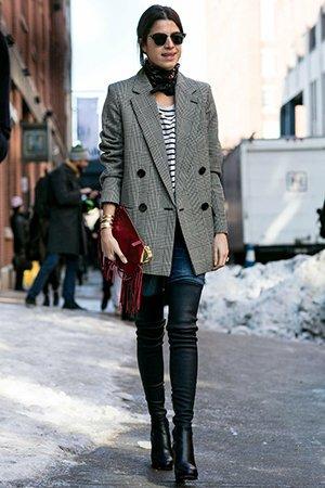 Ботфорты и пиджак