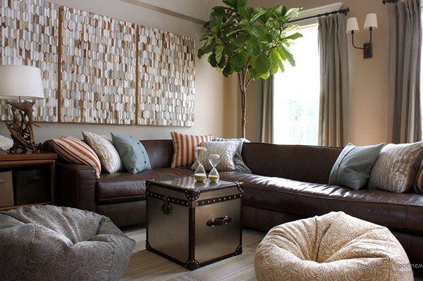 Декор комнаты подушками
