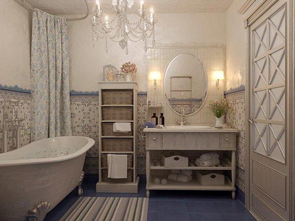 Фото интерьера ванной во французском стиле