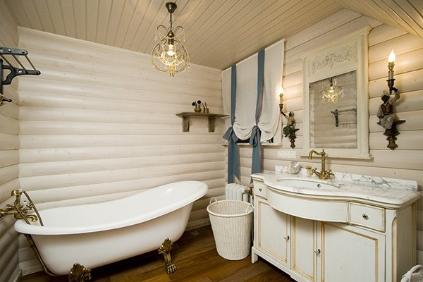 Декор ванны в стиле прованс